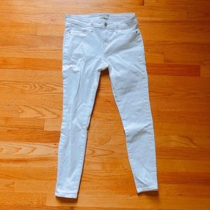 Abercrombie & Fitch Cropped White Jeans